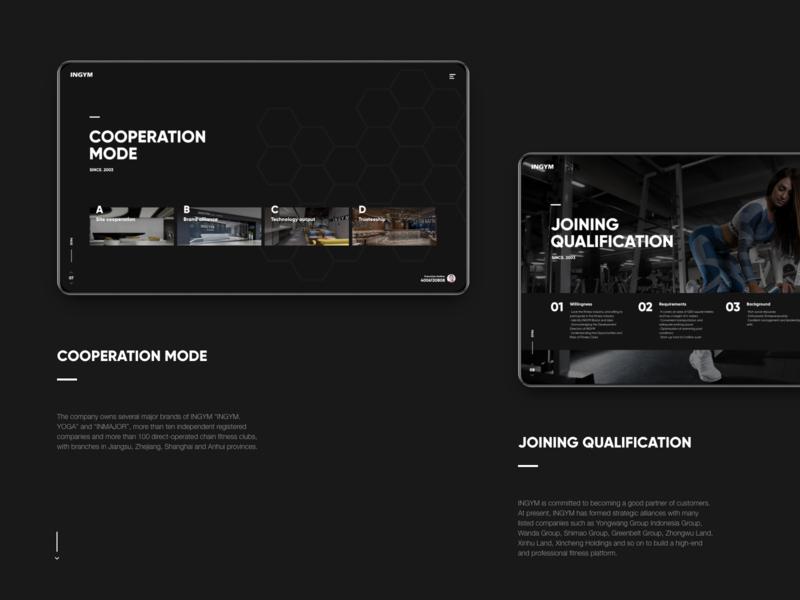 INGYM GROUP ux animation webdesign