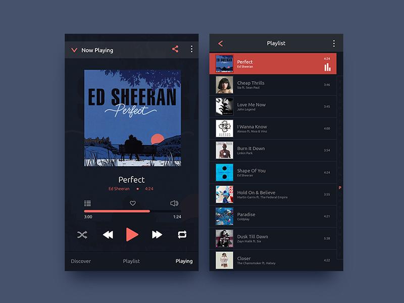 Music Player uipractice uidesign app branding vector ui design illustration application design music player ui app