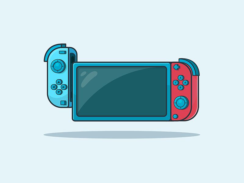 Nintendo Switch artworks artwork art design gaming flatvector illustration vector nintendo switch