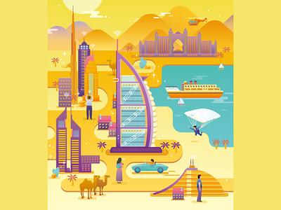 Dubai    hotel,summer,camel,yellow arab al illustration,dubai,country,burj