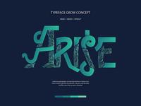 Illustration Vector Typeface Arise