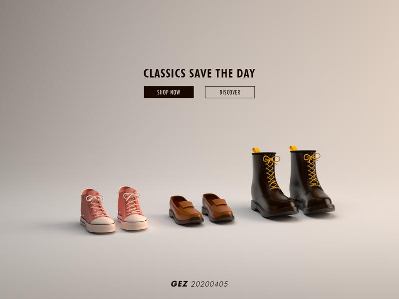 Buy Shoes Online? ux ui render 3d c4d website fashion shop now webdesign shoes