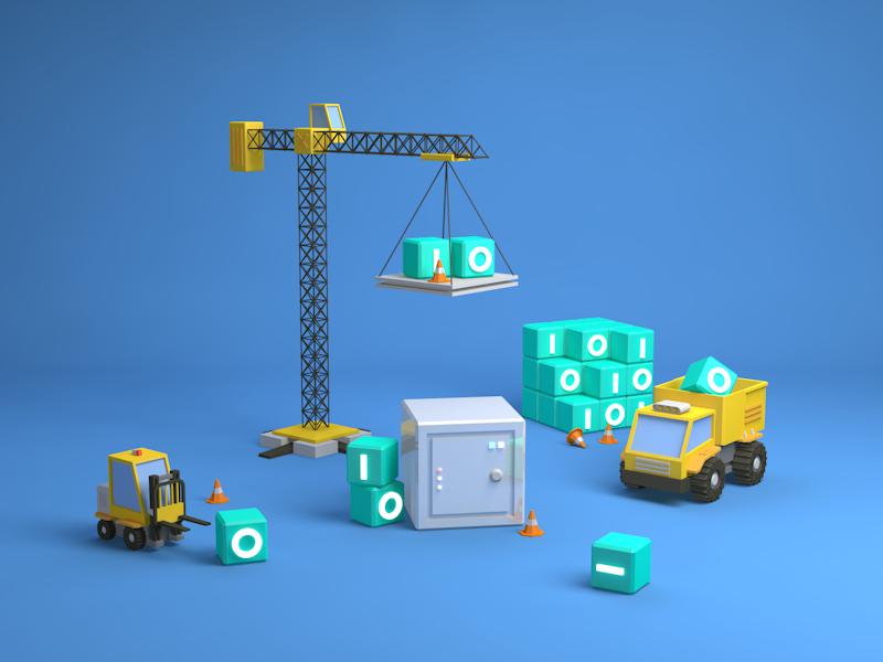 Data Management safety truck data 3d 3d modeling c4d