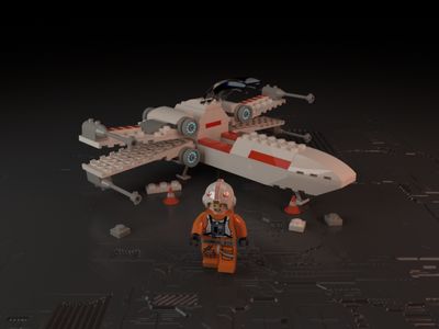 LEGO Rebels space astronaut spaceship star wars lego cinema 4d 3d modeling c4d 3d character