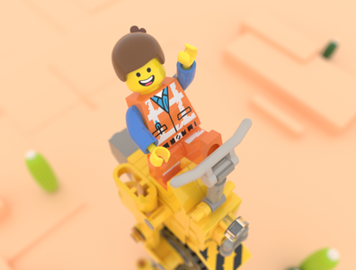 Emmet's Tricycle tricycle hello toy lego cinema 4d 3d modeling c4d 3d character