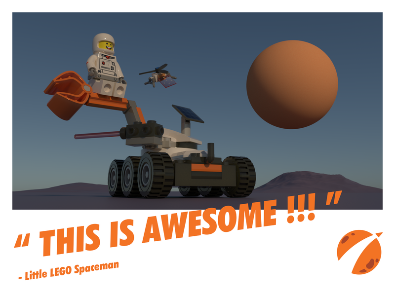 LEGO Spaceman vehicle car toy universe space astronaut spaceman lego arnold cinema 4d 3d modeling c4d 3d character