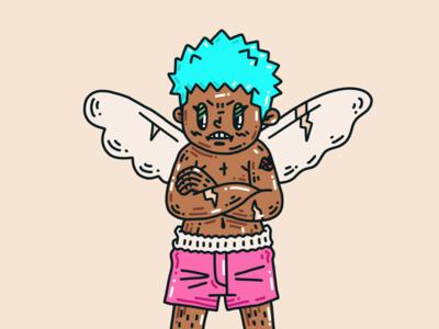 """Love is blind, bro"" applepencil ipadpro procreate character illustration"