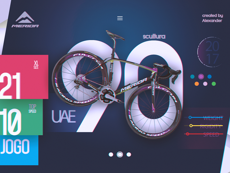 Merida Bikes - main page Scultura ai graphics colors ux ui bikes design web merida