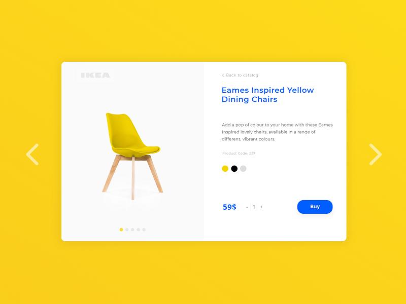 IKEA Product Card color swipe ui adobe card ikea design web