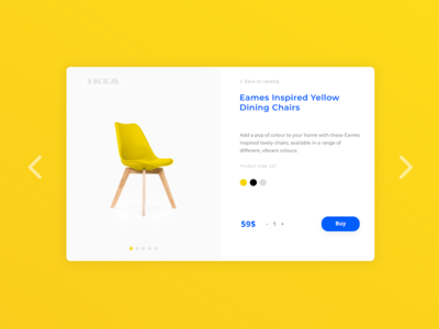 IKEA Product Card color swipe ui adobe card ikea design web