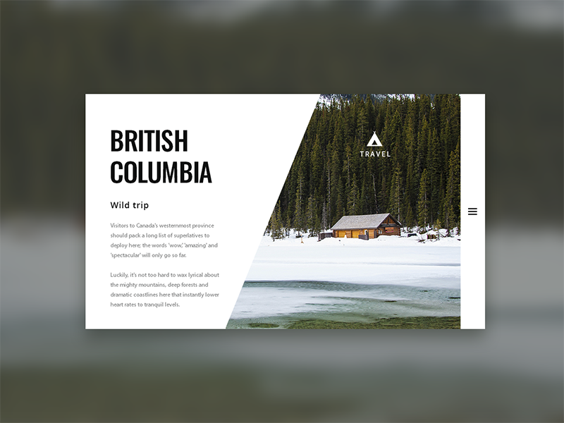 British Columbia trip - screen case preview interface web ui screen adobe columbia british photoshop
