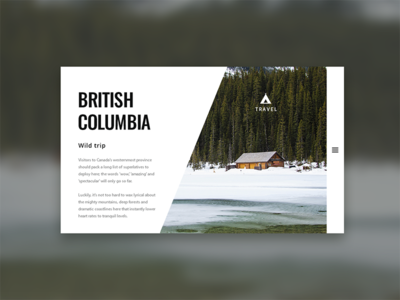 British Columbia trip - screen case preview interface web ui screen adobe columbia british photoshop