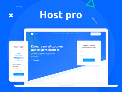 Host Pro - website hosting app logo interface illustration designer form typography ui ux design web color