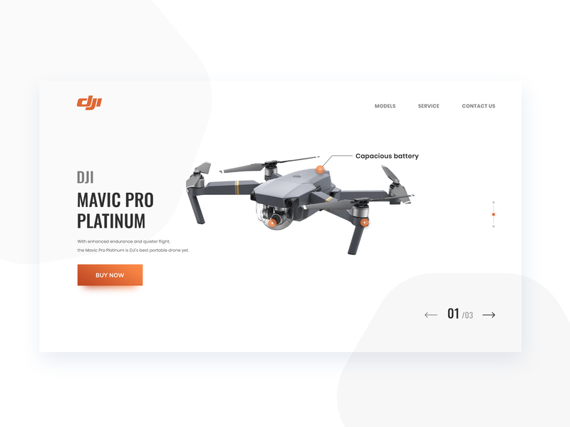Page DJI MAVIC PRO PLATINUM photoshop mavic dji logo illustration card user typography designer ux interface ui web color design