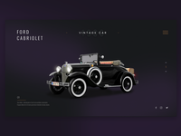 Vintage car - Model A Ford carsharing colors illustration cab photoshop color typography car ford icon designer ux interface ui web design