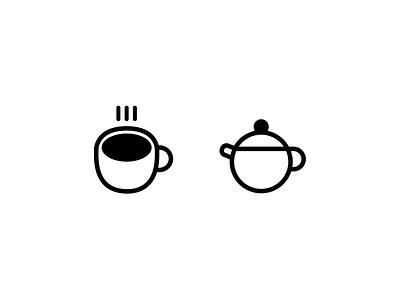 Teapot Cup vector branding design illustration