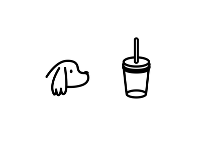 Dog drink branding icon illustration design