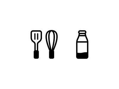 kitchen milk branding vector icon illustration design