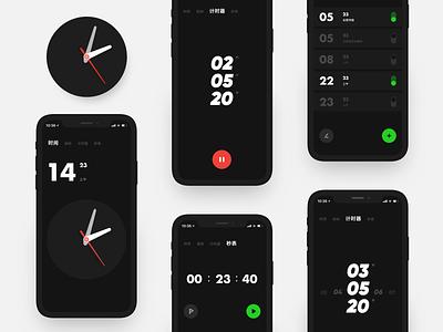 Clock app vector app ui illustration design