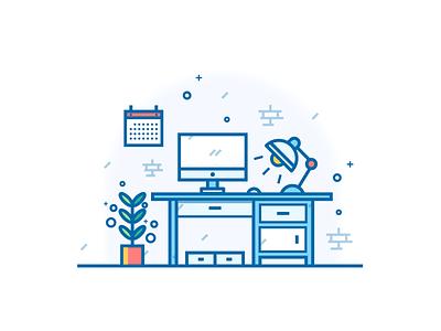 Study room vector icon design illustration