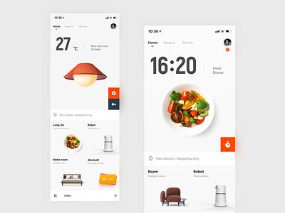 Future Hotel design ux app ui