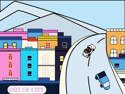 Out Of City magazine comics illustration