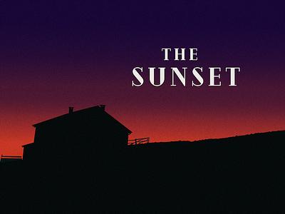 Sunset magazine landscape nature illustration