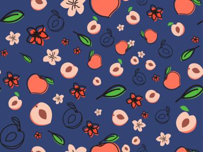 peach pattern peach packaging illustration design pattern