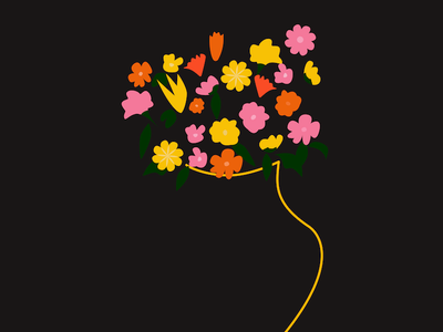 Flower illustration brand packaging