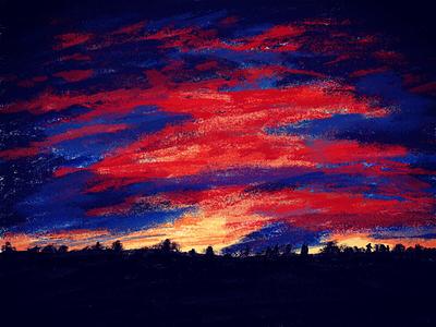 Sunset sunset illustration