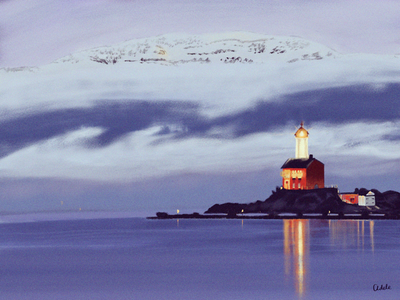 Fisgard lighthouse illustration poster lighthouse