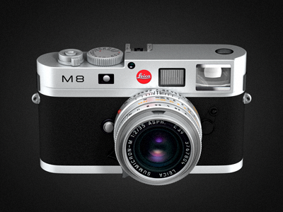 Leica M8 white 3d black