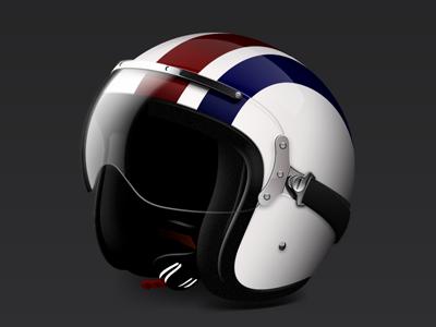 Racing Helmet racing blue red stripes helmet speed