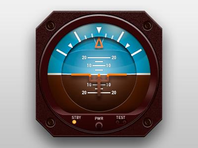 Aviator Icon aviator target red yellow blue flight air instruments