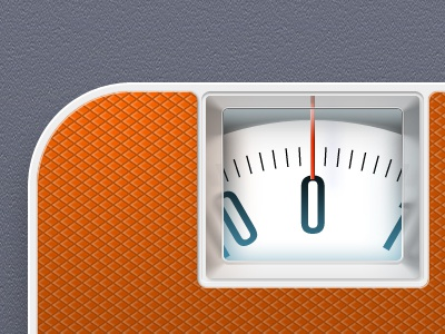 Scales iPhone Icon scales iphone weight orange