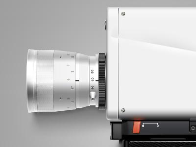 Old Super8 Cam camera orange white black movie icon