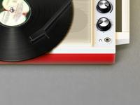 Portable Turntable Icon