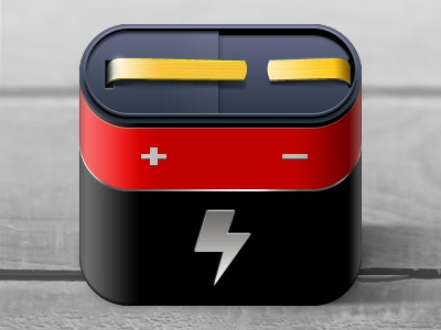 Battery iPhone Icon battery energy iphone icon red black yellow