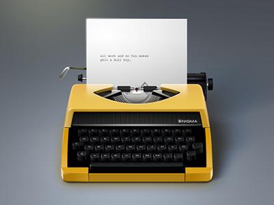 Little Typewriter Icon icon typewriter letter writer writing paper text