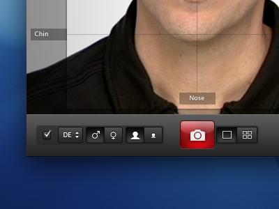 Photo-App User Interface ui button passport photo shoot