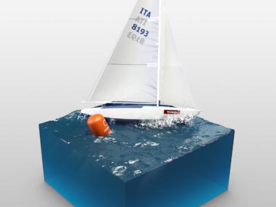 Sailboat on Ocean boat water ocean sailing