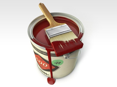 Red Color Bucket color red brush ink icon paint bucket