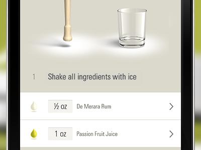 Cocktail App Teaser #2 cocktails custom retina iphone ui ios