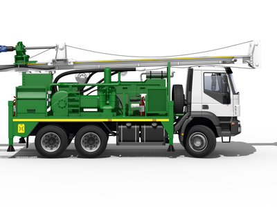 Truck for Charity:water charity:water 3d rendering truck