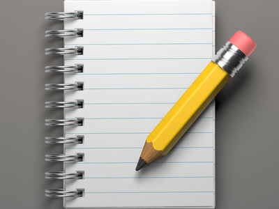 Notepad Icon notepad pencil paper