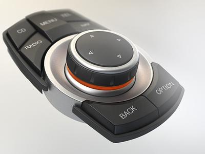 BMW iDrive Controller Close-Up bmw rendering idrive