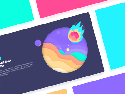Planetary Orbit illustration track wave universe planet