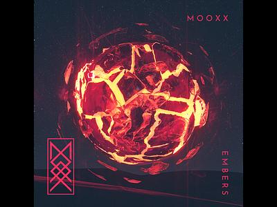 M O O X X 'Embers' Single Art music art cinema 4d cover art abstract design cinema4d 3d render 3d art direction branding