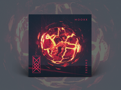 M O O X X 'Embers' Single Art music art cinema 4d cover art abstract design cinema4d 3d render 3d art direction branding