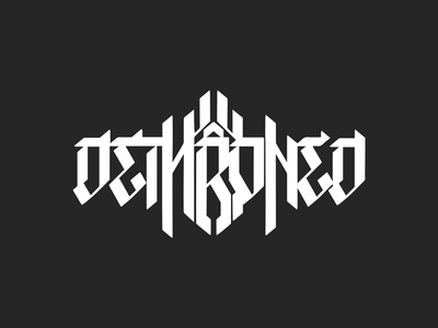 Dethroned Band Logo band merch metal logo typography band logo gothic lettering design vector branding art direction logo